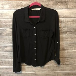 Black Michael Stars Button Up with Pockets